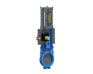 A PneuLINK™ control platform with Orbinox knife gate valve