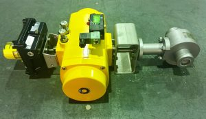 A Penta high integrity metal seated ball valve fitted with an El-O-Matic actuator
