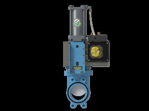 EB knife gate valve, biogas valve