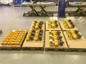 El-O-Matic F series rack & pinion pneumatic actuator